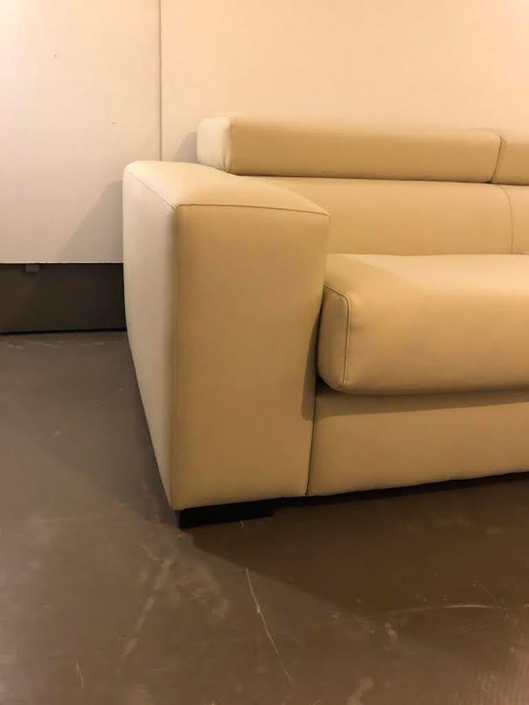 Synthetic White Mid-Century Modern Set of Sofas For Sale