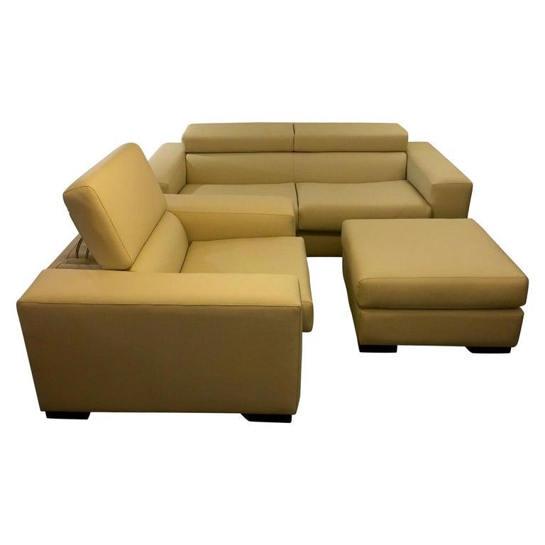 White Mid-Century Modern Set of Sofas For Sale