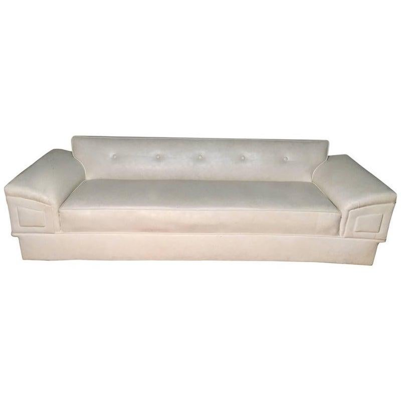White Mid Century Modern Sofa
