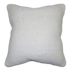 White Minimilast Turkish Kilim Pillow