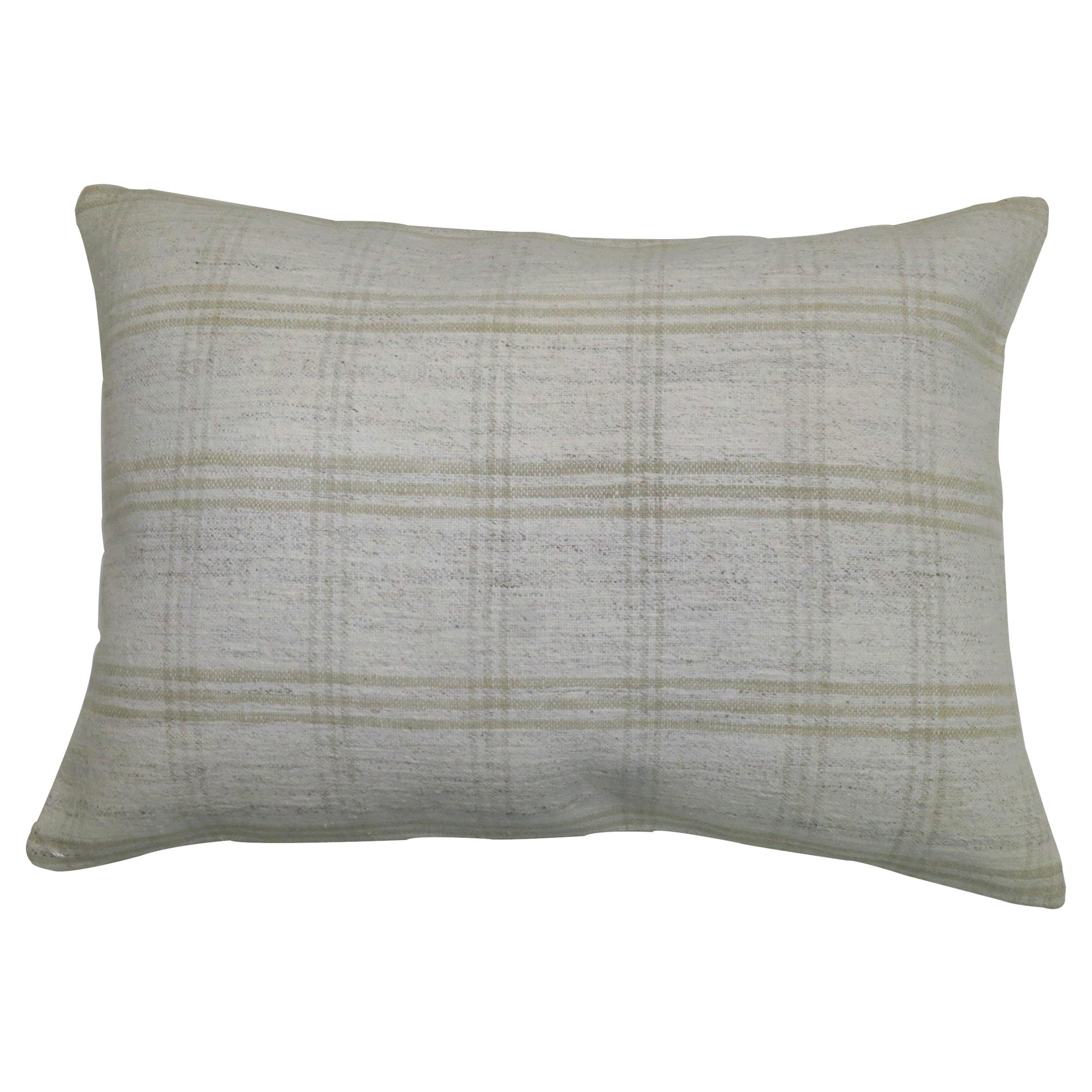 White Modern Persian Textile Kilim Pillow