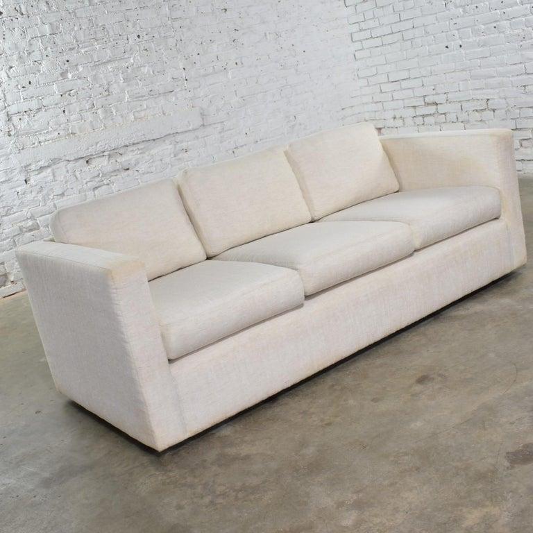 American White Modern Tuxedo Style Sofa by Milo Baughman for Thayer Coggin For Sale