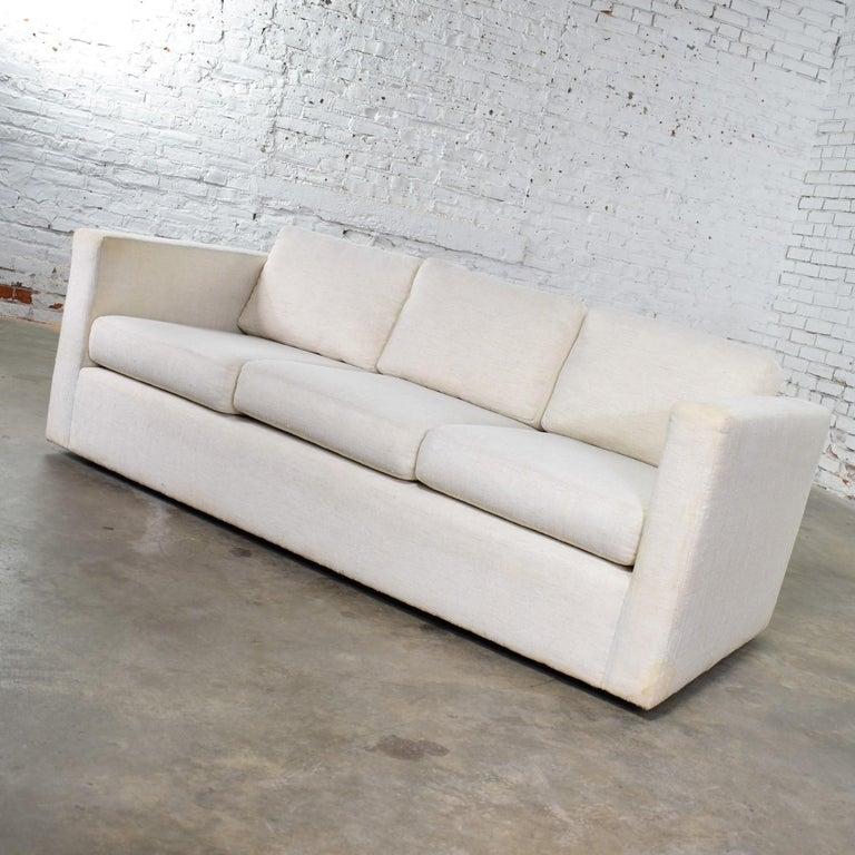 20th Century White Modern Tuxedo Style Sofa by Milo Baughman for Thayer Coggin For Sale