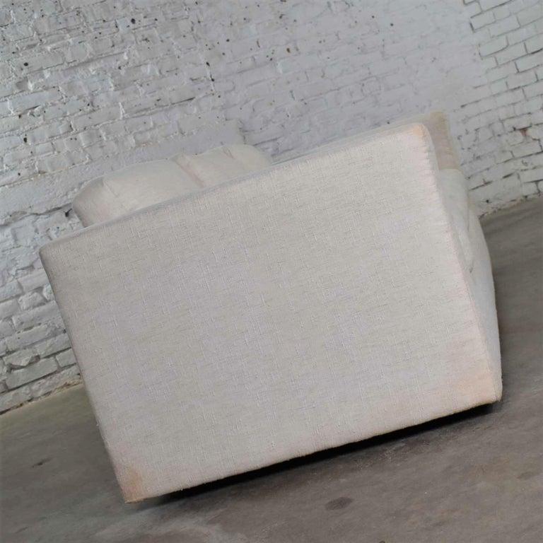White Modern Tuxedo Style Sofa by Milo Baughman for Thayer Coggin For Sale 1