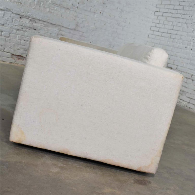 White Modern Tuxedo Style Sofa by Milo Baughman for Thayer Coggin For Sale 2