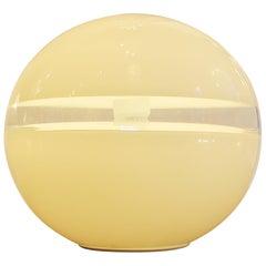 White Murano Glass Table Lamp Model LT231 by Carlo Nason for Mazzega