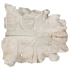 White Natural Cow Hide Rug Argentina