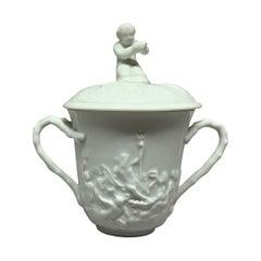 White Nautical Pot de Creme Cup