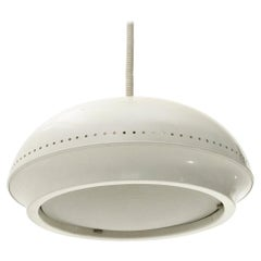White 'Nigritella' Pendant Lamp by Tobia Scarpa for Flos, 1960s