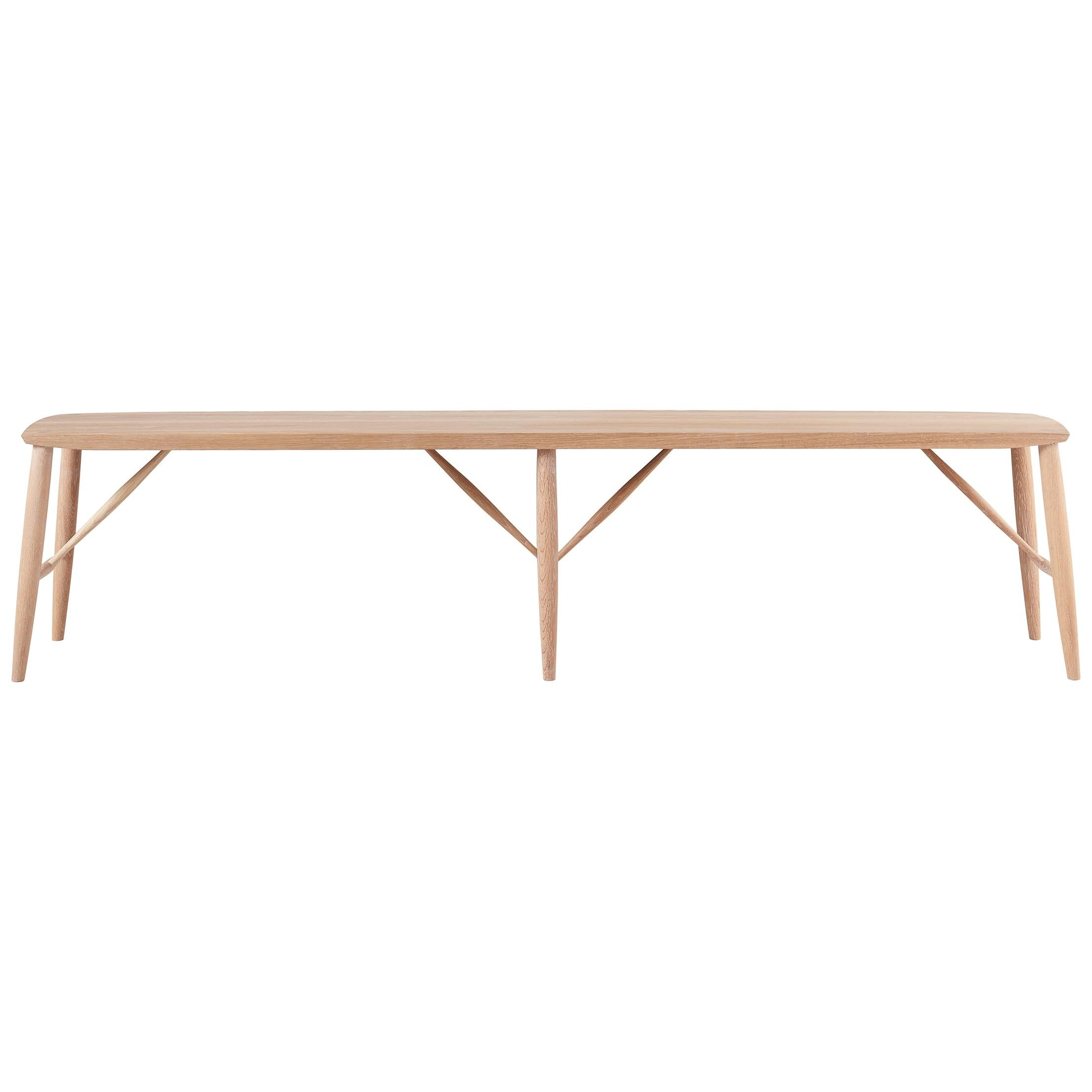 """72"""" White Oak Bench by Coolican & Company"""