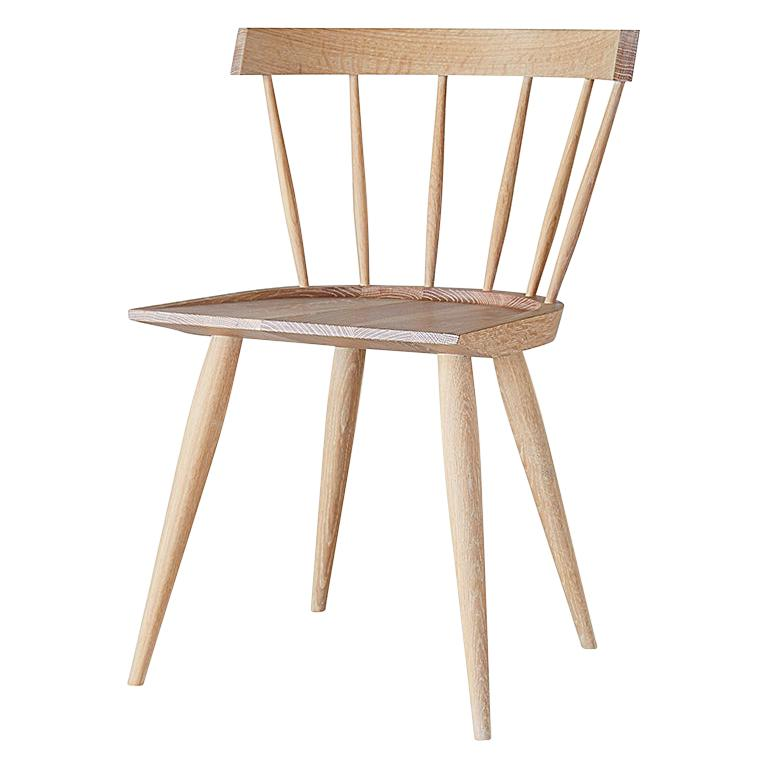 White Oak, Contemporary Windsor Dining Chair by Coolican & Company
