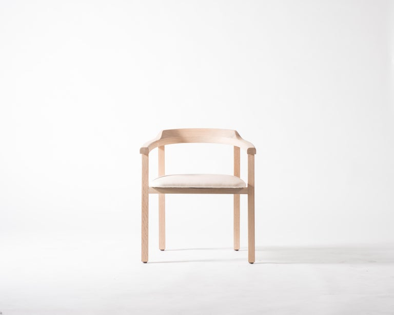 Sensational White Oak Dining Chair With Leather Seat Or Dining Chair Gh2 Evergreenethics Interior Chair Design Evergreenethicsorg