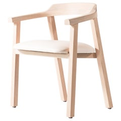 White Oak Dining Chair with Leather Seat or Dining Chair GH2