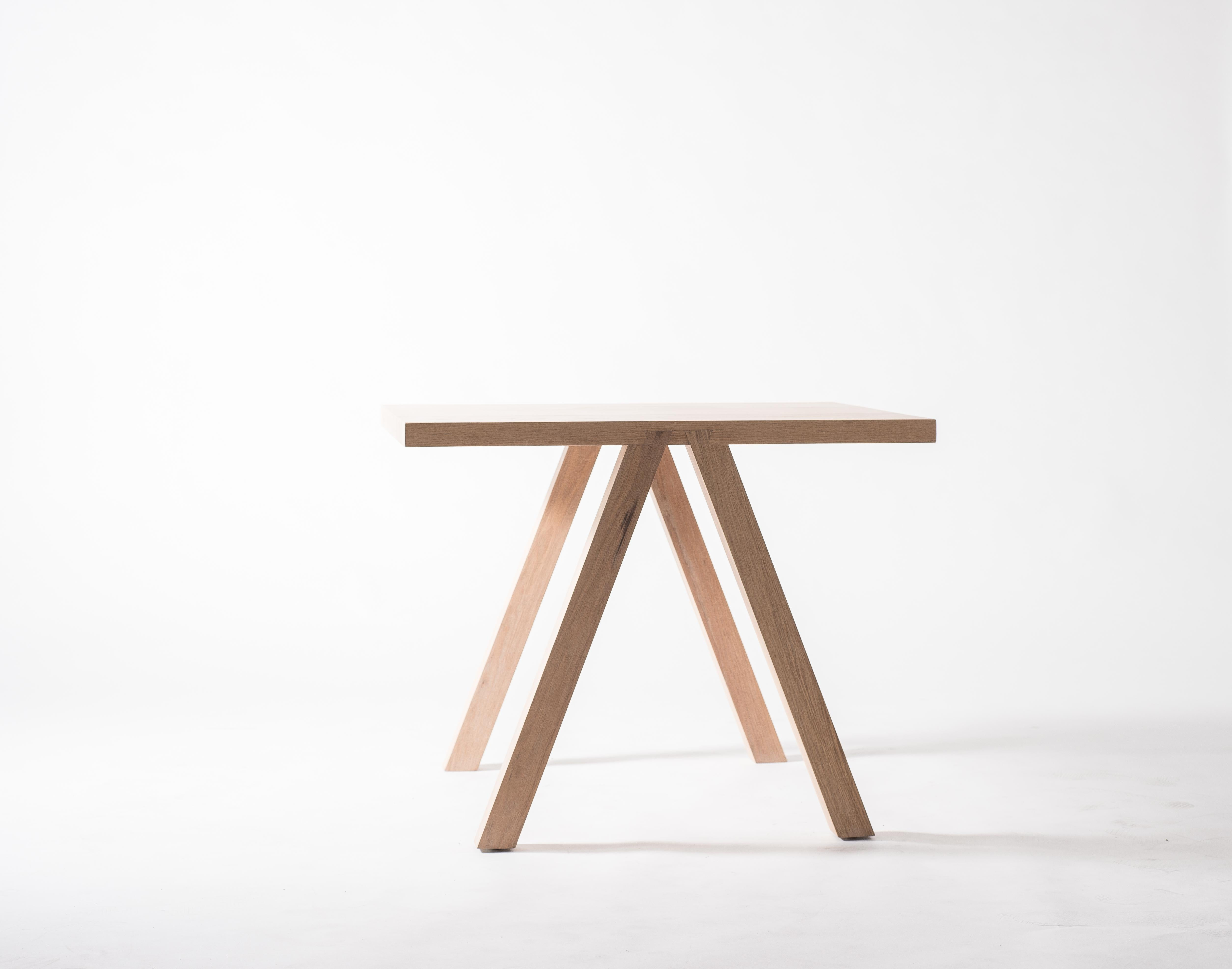 Contemporary White Oak Dining Table by