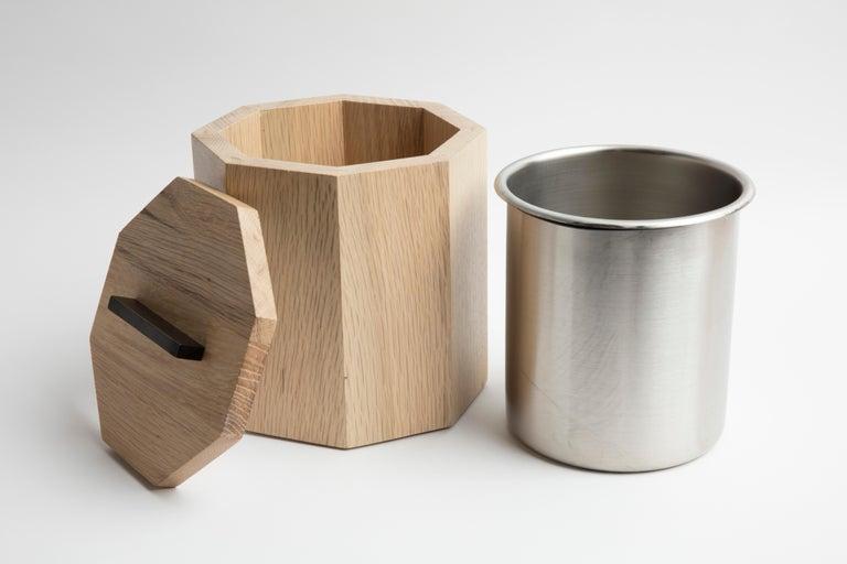 American Craftsman White Oak Ice Bucket For Sale