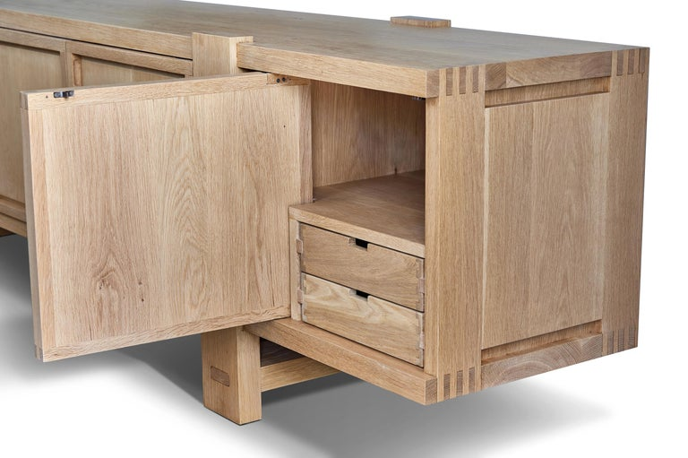 White Oak Lake Cabinet / Credenza by August Abode For Sale 4
