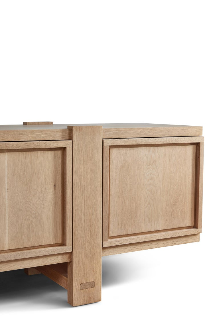 White Oak Lake Cabinet / Credenza by August Abode For Sale 5