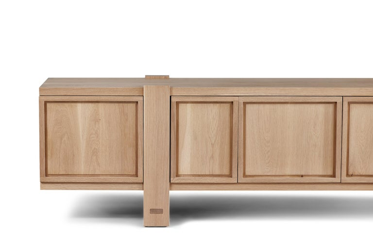 American White Oak Lake Cabinet / Credenza by August Abode For Sale