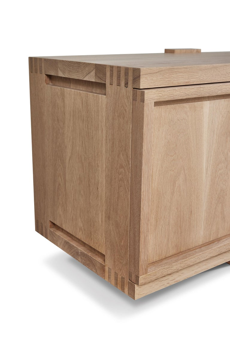 White Oak Lake Cabinet / Credenza by August Abode In New Condition For Sale In Beverly Hills, CA