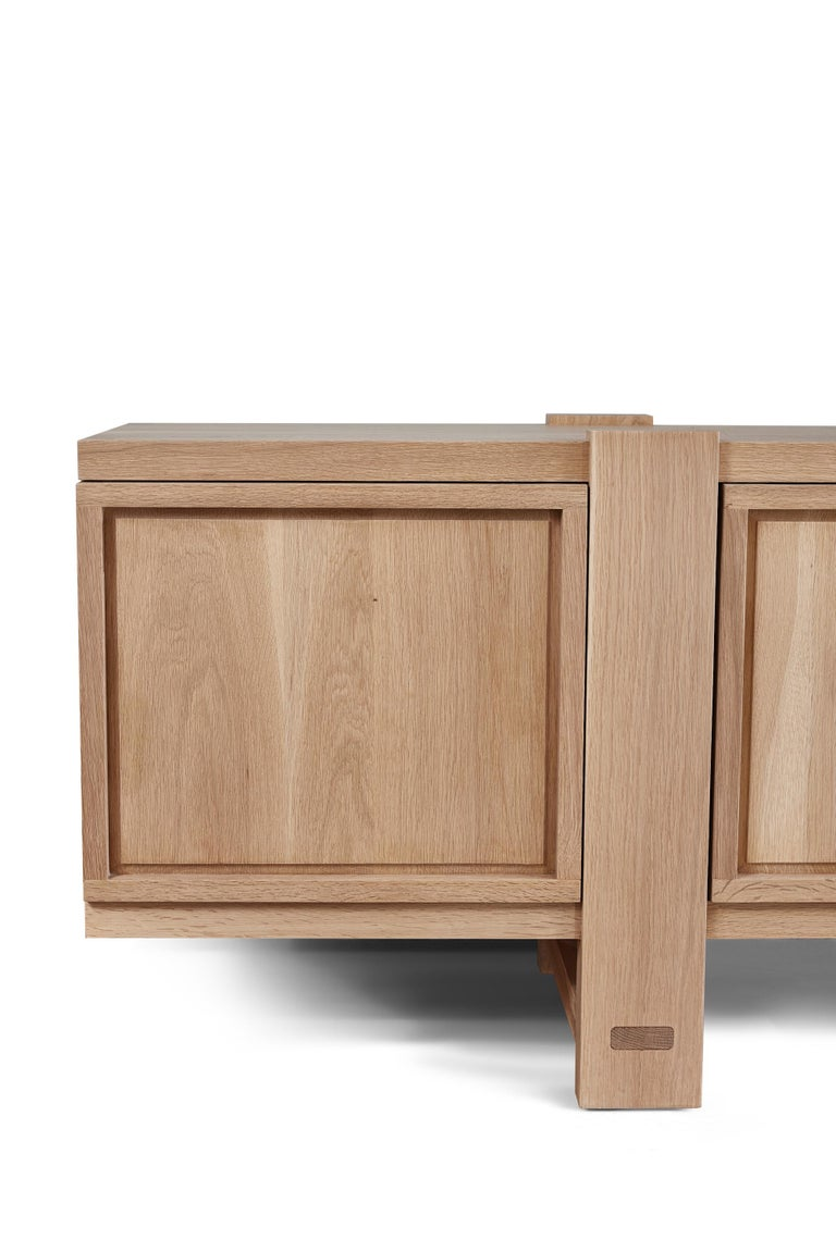 White Oak Lake Cabinet / Credenza by August Abode For Sale 1