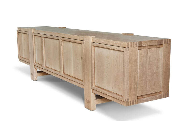 White Oak Lake Cabinet / Credenza by August Abode For Sale 2