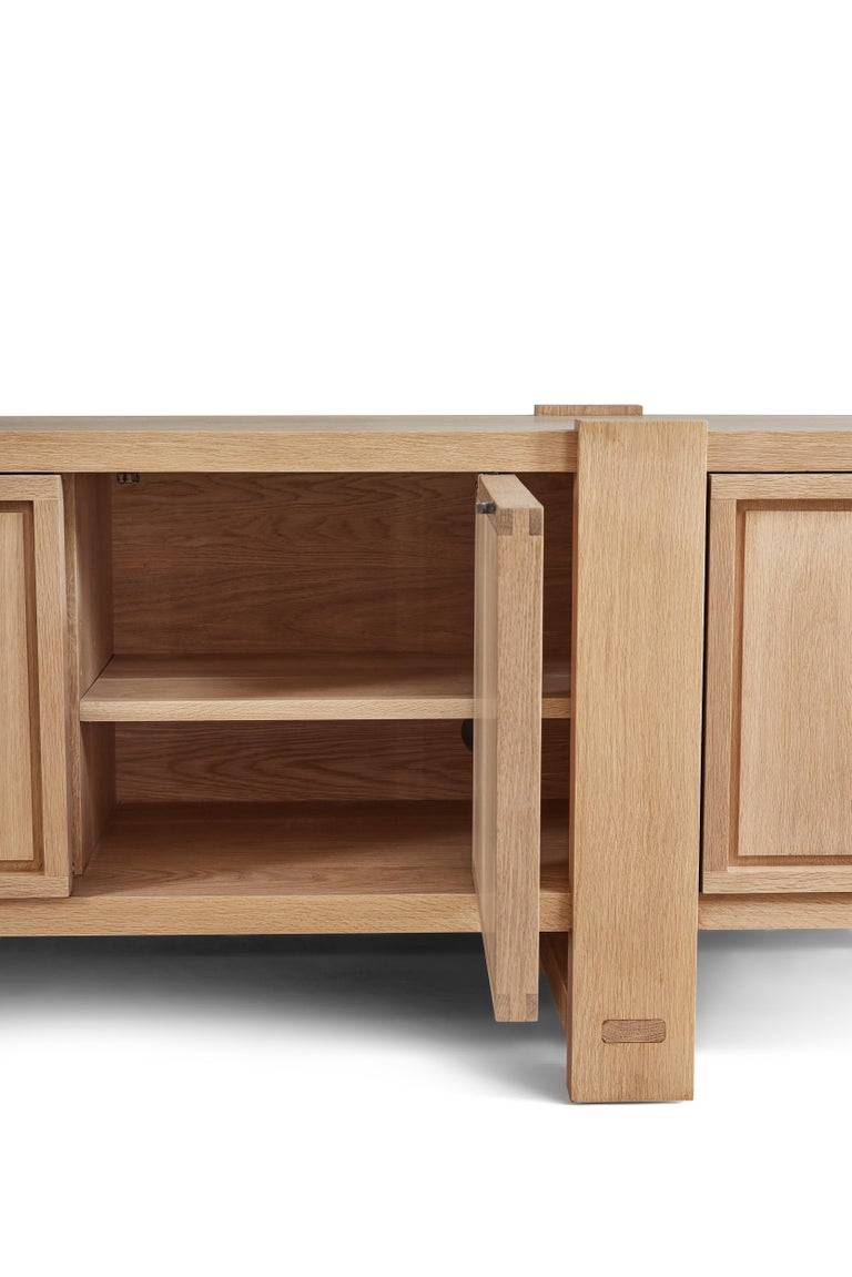 White Oak Lake Cabinet / Credenza by August Abode For Sale 3