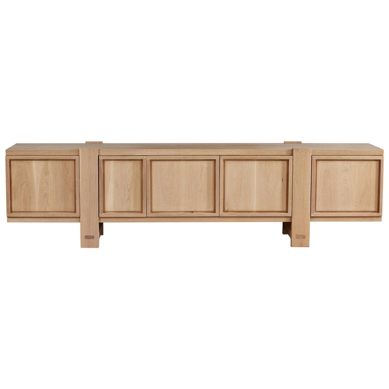 White Oak Lake Cabinet / Credenza by August Abode For Sale