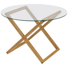 White Oak Minimal Handmade Cruciform Coffee Table
