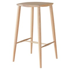White Oak Minimalist Counter Stool by Coolican & Company