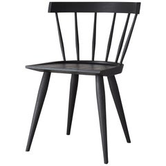 Blackened Ash Minimalist Dining Chair by Coolican & Company