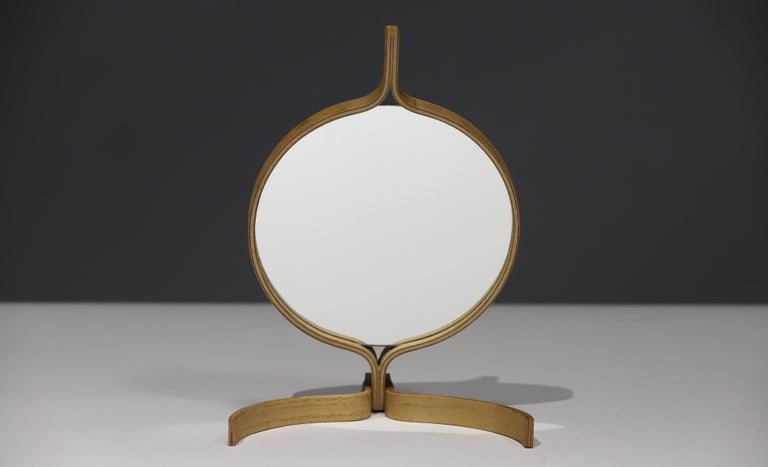 White Oak Table top and Hand Mirror by Jorgen Gammelgaard For Sale 4