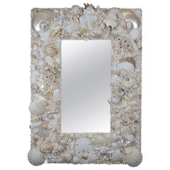 White Ocean, Unique Shell Mirror by Shellman Scandinavia