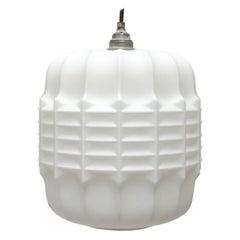 White Opaline Glass Bauhaus Pendant Light