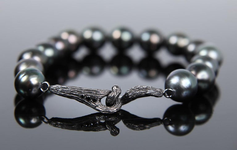 White Orchid Studio Night of a Thousand Stars SS Pearls Diamonds Gold Bracelet In New Condition For Sale In Athens, GA