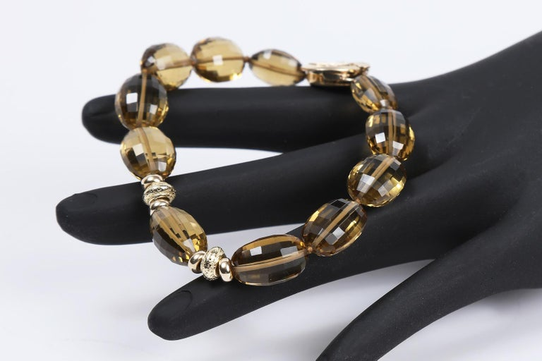 White Orchid Studio Bracelet Golden Quartz Yellow Gold For Sale 1
