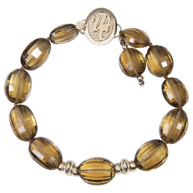 White Orchid Studio Bracelet Golden Quartz Yellow Gold For Sale