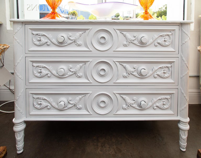 Other White Painted Chest of Drawers For Sale