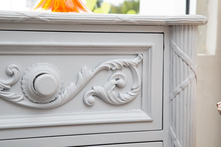 20th Century White Painted Chest of Drawers For Sale