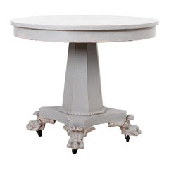 White Painted Empire Style Center Table