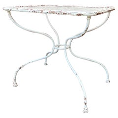 White Painted French Bistro Table