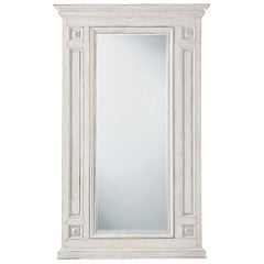 White Painted French Mirror