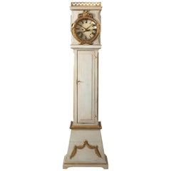 White Painted Grandmother Clock