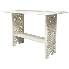 White Painted Moorish Style Garden Room Table