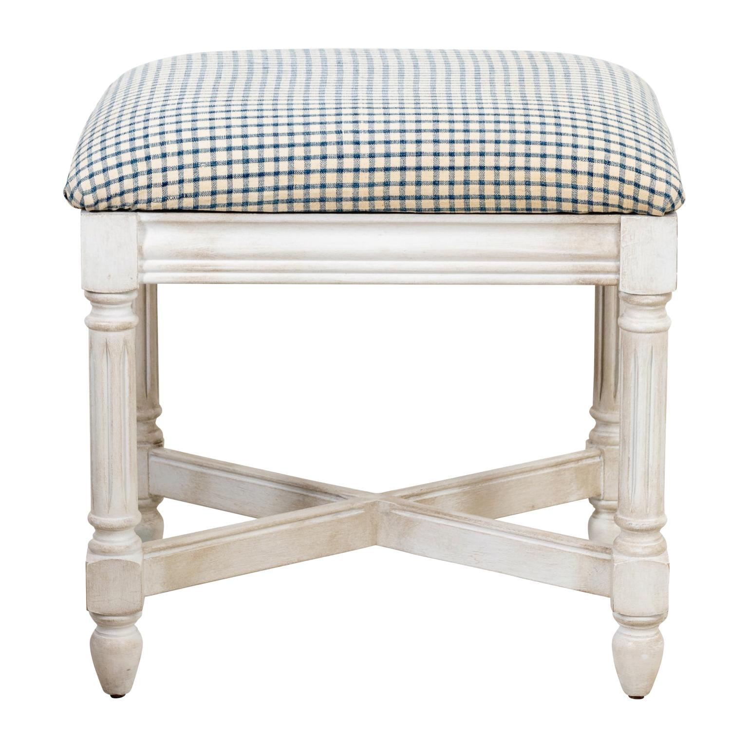 White Painted Neoclassical Style Bench