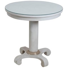 White Painted Rounded Table by Mitchell Gold and Bob Williams