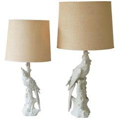 White Parrots Table Lamps