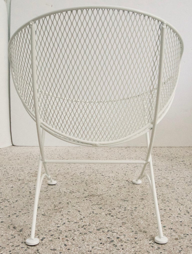 American White Patio Side Chair For Sale
