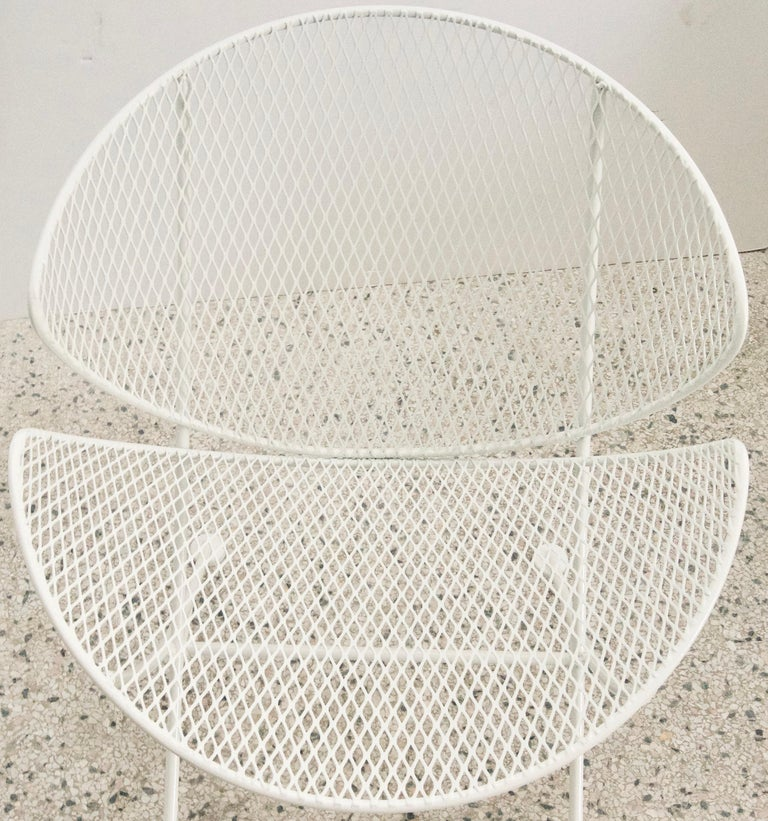 Powder-Coated White Patio Side Chair For Sale