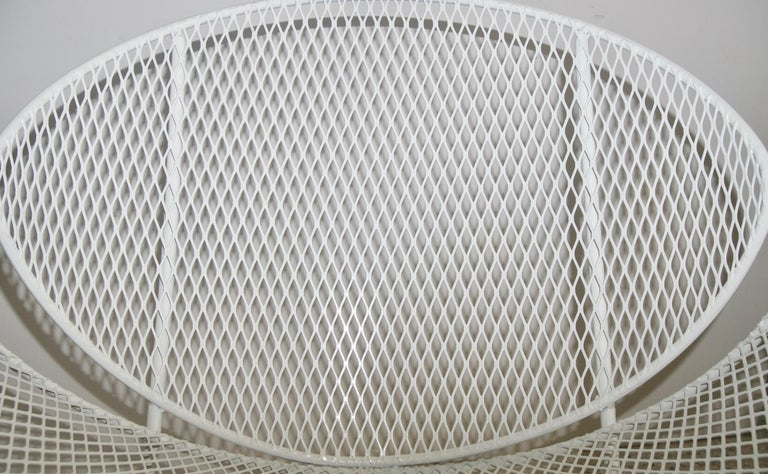 White Patio Side Chair In Good Condition For Sale In West Palm Beach, FL