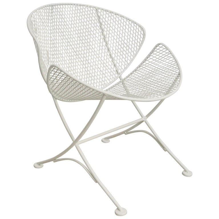 White Patio Side Chair For Sale